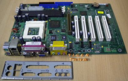 Fujitsu Siemens D1219-A10 GS3 Mainboard +Blende Sockel 370 AGP PCI VGA LAN* m216