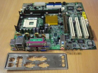 Gigabyte GA-8SIMLNF Rev 2.0 Mainboard +Blende Sockel 478 AGP VGA LAN Audio* m106