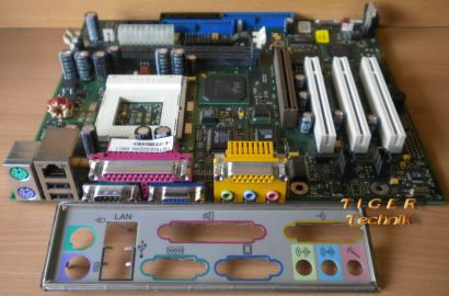 Fujitsu Siemens D1214-A11 GS 4 Mainboard Sockel 370 AGP PCI + Blende* m231