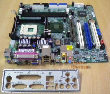 MSI MS-6719 Ver 1 Medion Mainboard +Blende Sockel 478 AGP 8X PCI LAN VGA* m244