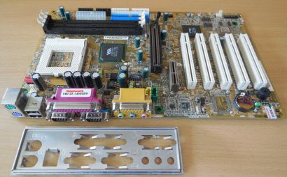 MSI MS-6309 Ver 2 Mainboard +Blende Sockel 370 SD RAM AGP PCI Audio IDE USB*m250