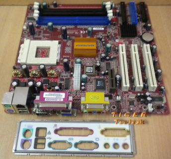 ECS Elitegroup K7SOM+ V. 5.1 Mainboard Sockel 462 AMR PCI + Blende* m251