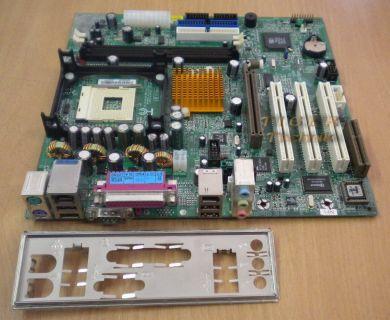 Gigabyte GA-8SIMLNF Rev 1.2 Mainboard +Blende Sockel 478 Firewire LAN Audio*m253