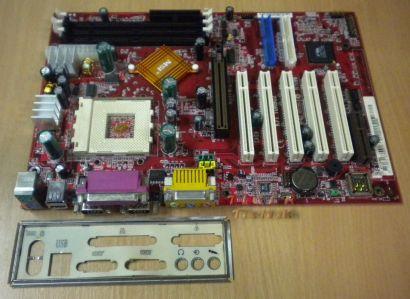 MSI K7T Turbo2 Mainboard Sockel 462 AGP PCI CNR 2x Seriell + Blende* m254