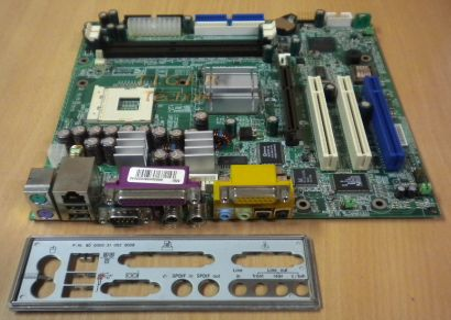MSI MS-6513 Medion 3500 Ver. 1 Mainboard Sockel 478 AGP PCI + Blende* m256