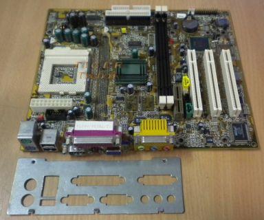 Biostar M6TWG Ver. 1.3 Mainboard Sockel 370 PCI AMR VGA + Blende* m261