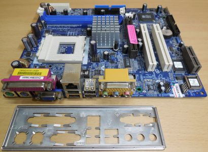 ASRock K7S41GX Rev. 1.03 Mainboard Sockel 462 AGP x8 PCI AMR + Blende* m235