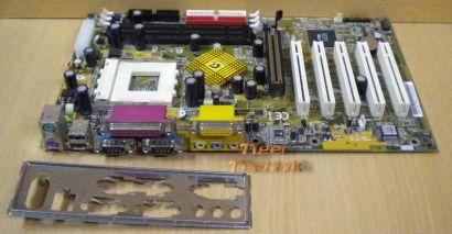 Gigabyte GA-7ZXE Rev. 1.1 Mainboard Sockel 462 AGP PCI 2x Seriell + Blende* m269