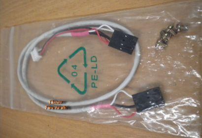 Audio MPC 2x4-pol für CD-DVD ROM Audiokabel + 4xSchrauben für Laufwerke* pz702