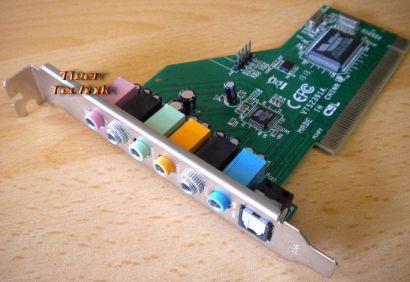 VIA 7.1 PCI Soundkarte Computer VTS2391A Opt SPDIF 24-bit* s55