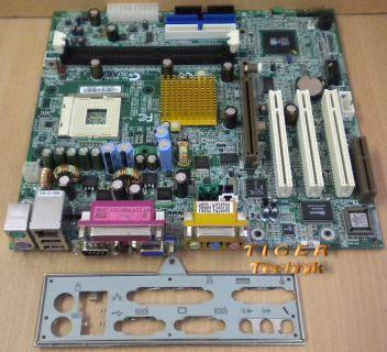 Gigabyte GA-8SIML Rev. 1.0 Mainboard Sockel 478 AGP PCI VGA LAN + Blende* m288