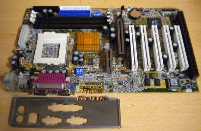 Gigabyte GA-6VXC7-4X Rev 3.0 Mainboard +Blende Sockel 370 PIII AGP PCI ISA* m321