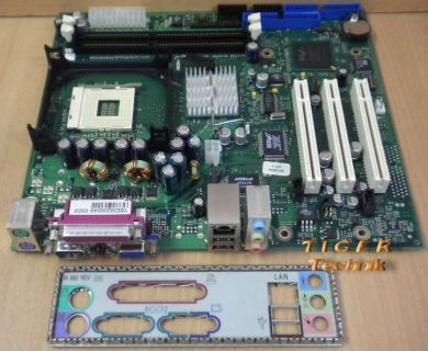 FSC Fujitsu Siemens D1451-A12 GS 2 Mainboard +Blende Sockel 478 VGA LAN PCI*m325