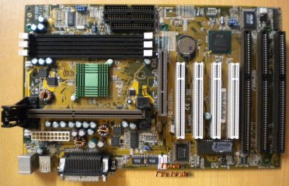 Asus P2B Rev 1.04 Mainboard + Blende 3x ISA Slot 1 Intel 440BX AGP PCI USB* m326