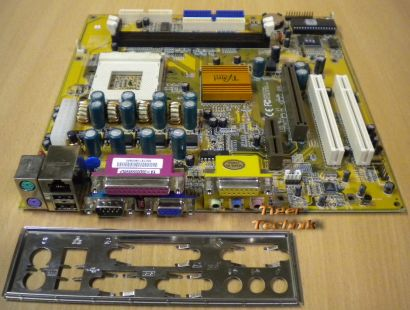 PC Chips E206922 PS-1 Mainboard So. 462 AMR AGP PCI VGA USB + Blende* m329