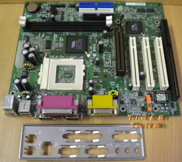MSI MS-6198 Ver. 2 Mainboard Sockel 370 AGP PCI ISA 2x Seriell + Blende* m335