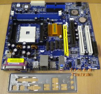 ASRock K8Upgrade-VM800 Rev. 1.01 Sockel 754 AGP x8 CPU Port + Blende* m346