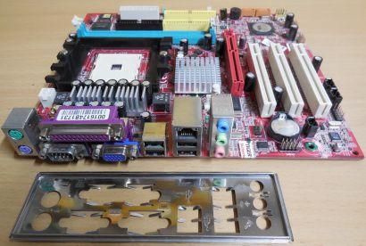 MSI MS-7181 Ver. 2.0 Mainboard K8MM3 H Sockel 754 AGP PCI VGA + Blende* m351