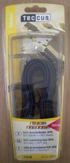 Teccus by Vivanco Telefon Kabel Modular 6P4C 10m Länge RJ11 St. - RJ11 St.* so207