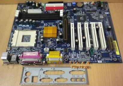 Gigabyte GA-7ZX Rev. 5.1 Mainboard So. 462 AGP PCI AMR 2x Seriell + Blende* m361