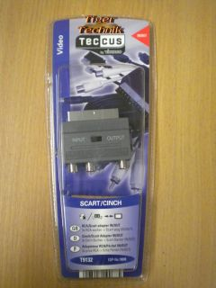 Teccus by Vivanco Scart Adapter 3x Cinch Buchse Scart In Out schaltbar* so184