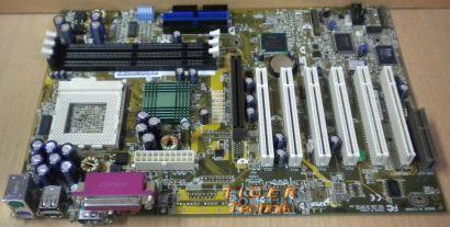 Asus CUSL2-C Rev. 1.02 Mainboard Sockel 370 AGP PCI CNR Seriell + Blende* m369