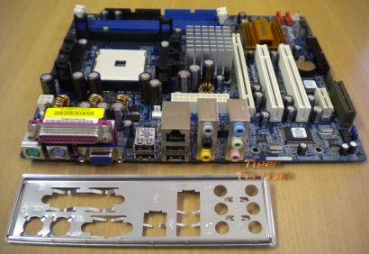 ASRock K8NF4G-SATA2 Rev1.04 Mainboard +Blende Sockel 754 PCIe VGA LAN Audio*m375