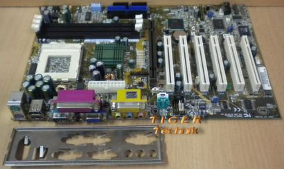 Asus CUSL2 Rev. 1.02 Mainboard Sockel 370 AGP PCI CNR Seriell + Blende* m384