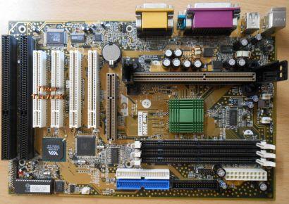 Chaintech 6VTA2-D100N Mainboard +Blende Slot 1 VIA 2x ISA AGP PCI Audio* m385