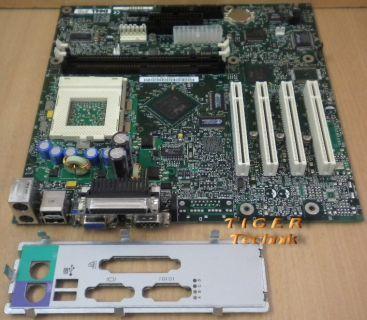 DELL 2E087 Rev. A00 Mainboard Intel CA810E So. 370 PCI VGA + Blende* m393