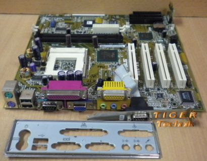 Asus MEW-AM Rev. 1.01 Mainboard Sockel 370 PCI VGA Seriell USB + Blende* m394