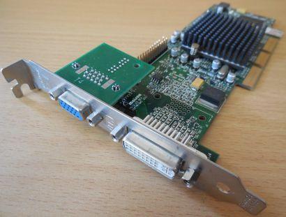 Matrox Millenium G550 AGPx4 G55+MDHA32DB 32MB VGA DVI Grafikkarte Passiv* g139