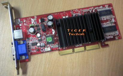 MSI MS-8917 Grafikkarte NVIDIA GeForce FX 5200 DDR 64MB AGPx8 VGA S-VID* g199