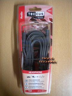 Teccus by Vivanco 10m Verlängerung Klinke 3,5mm St. - 3,5mm Bu. *so251