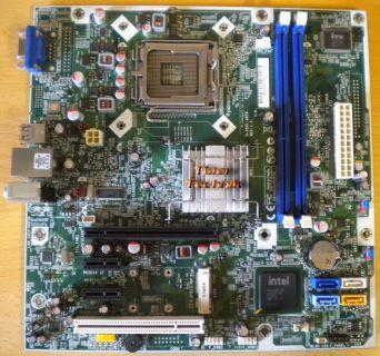 HP Compaq H-IG41-uATX Rev 1.1 Sockel 775 582679-001 Eton Mainboard +Blende* m670