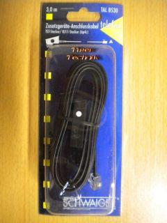 Schwaiger Telefon Zusatzgeräte Anschlusskabel TST Stecker - RJ11 St. 6p4c *so283