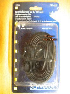 Schwaiger Telefon Kabel TAE-N 10m für Zusatzgeräte FAX AB TAE-N - RJ11 St.*so297