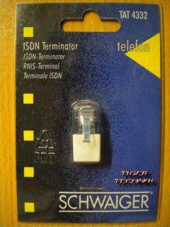 Schwaiger Telefon ISDN Terminator 100 Ohm an RJ-45 Buchse *so300