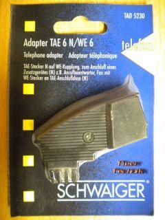 Schwaiger Telefon Adapter TAE-N auf Western zum Anschluss von AB Fax *so302