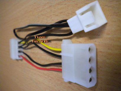PC-Lüfter-Adapterkabel, Mini Molex Kühler Stromanschluss, Gehäusekühler* pz705