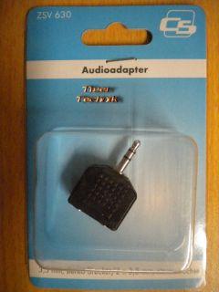 CS ZSV 630 Audio Y-Adapter Klinke Stecker 3,5mm - 2x Buchse 3,5mm *so308