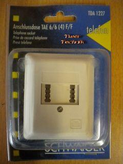 Schwaiger TDA1227 Aufputz Anschlussdose TAE F F 6/6(4) für 2 Telefone *so322