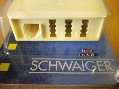 Schwaiger TÜA1231 Telefon Adapter TAE F NFN + 1x RJ11 Überspannungsschutz* so323