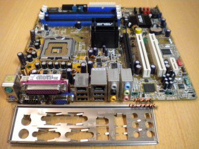 Asus P5GD1-VM S Rev1.05 Mainboard +Blende Sockel 775 FSB800 DDR SATA PCIe* m418