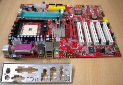 MSI K8T Neo MS-6702 Ver 1.0 K8T800 AMD Sockel 754 Mainboard mit Blende* m67