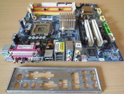 Gigabyte GA-8I915PMD Rev 1.0 Mainboard +Blende Sockel 775 PCIe DDR2 LAN* m423