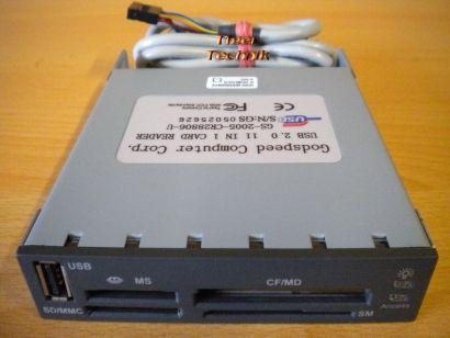 Godspeed Computer USB 2.0 GS-2005-CR28806-U 11in1 Kartenlesegerät schwarz* kl02