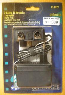 Schwaiger BS 6822 2-Geräte-TV-Verstärker 2x 8 dB kabeltauglich *so339