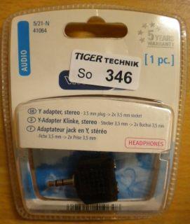 Vivanco 5/21-N Audio Y-Adapter Klinke Stecker 3,5mm - 2x Buchse 3,5mm* so346