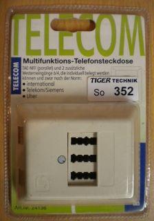 BigBalloon Aufputz Multifunktions-Telefonsteckdose TAE N F F + 2 WE 6/4 *so352